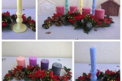 Adventné sviečky a krásne štýlové svietniky