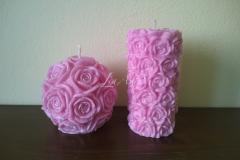 Cyklamenový ružičkový valec a guľa