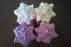 4 krásne snehové valce hviezdicové